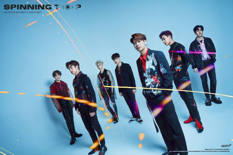GOT7 Keeping Spinning Spinning Top Press Photo