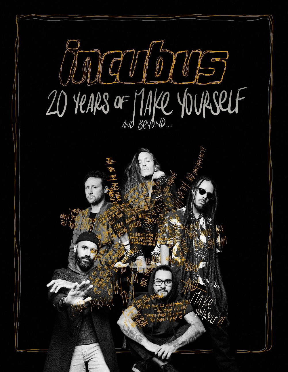 Incubus 20 Years of Make Yourself & Beyond 2019 Tour Dates poster