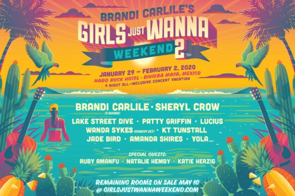 brandie carlile girls just wanna weekend 2 2020 lineup poster