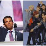 donald trump jr bts fans trash concert video tweet