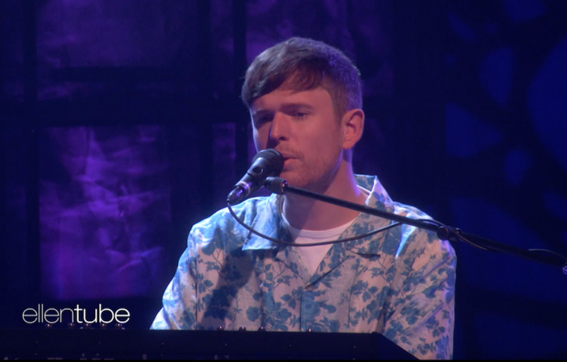 James blake i'll come too ellen tv show performance video watch