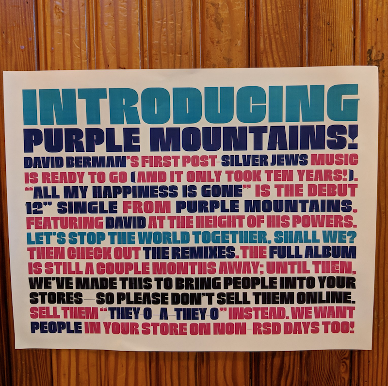 purple mountains david berman debut single Silver Jews David Berman launches new project, releases debut single All My Happiness is Gone