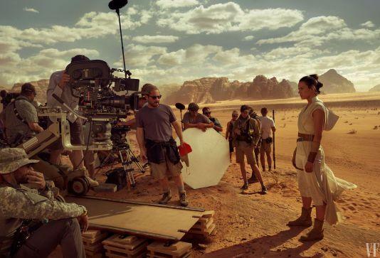 Rey on set of Star Wars: The Rise of Skywalker