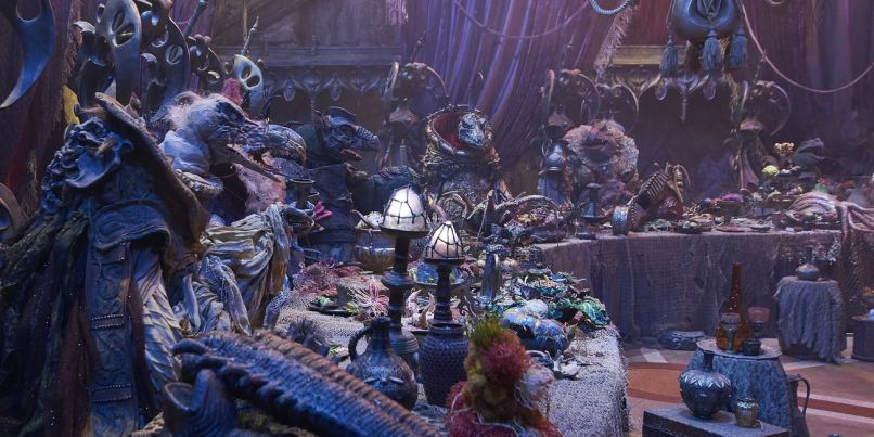 A Skeksis Banquet in The Dark Crystal: Age of Resistance