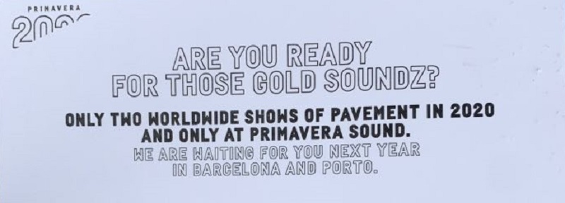 Pavement Reunion on Primavera Sound Flyer