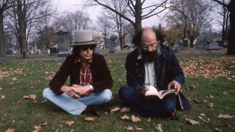 Bob Dylan and Allen Ginsberg in Rolling Thunder Revue