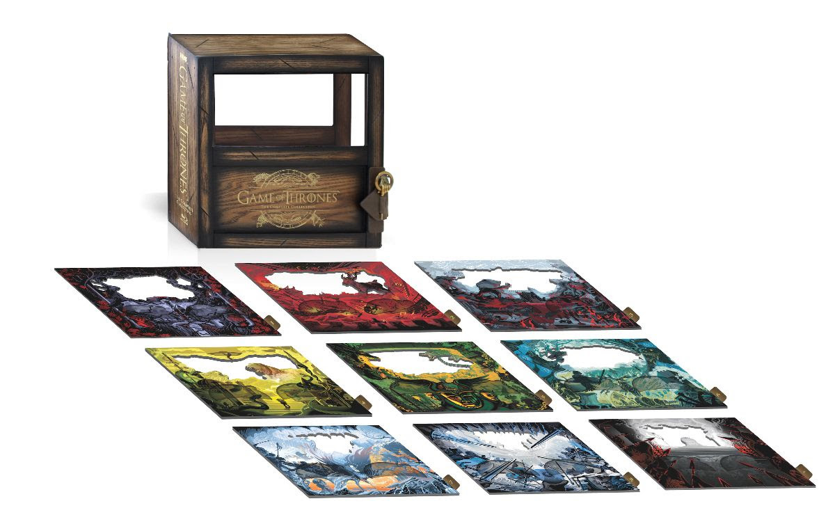 Game of thrones the complete collection box set design