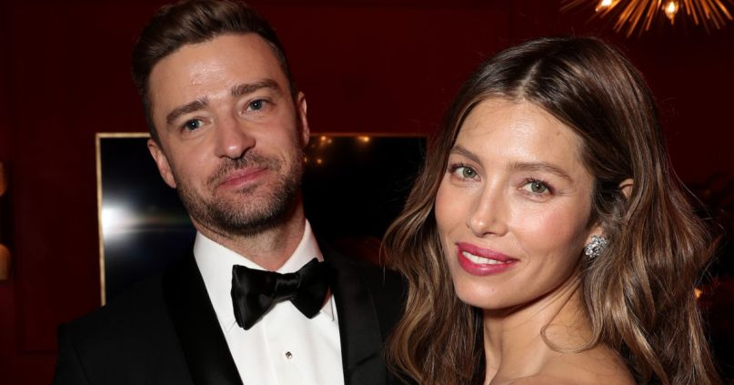 Jessica Biel with husband Justin Timberlake