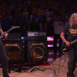 Metallica Perform National Anthem at NBA Finals Game
