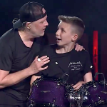 Metallica with 13 year old drummer Evan