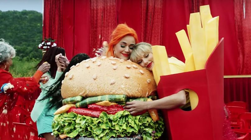 "Taylor Swift and Katy Perry in ""You Need to Calm Down"""