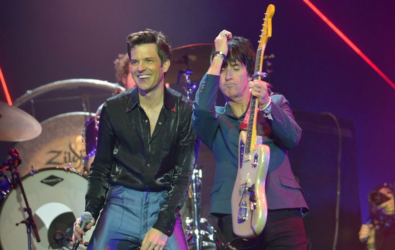 The Killers and Johnny Marr, photo by Jim Dyson/Getty Images