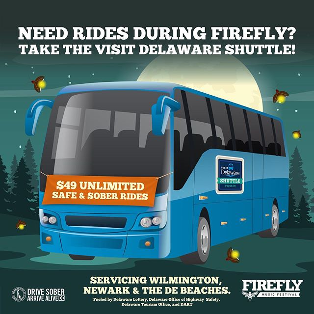 Visit Delaware Shuttle Program 10 Reasons Were Pumped for This Years Firefly Music Festival