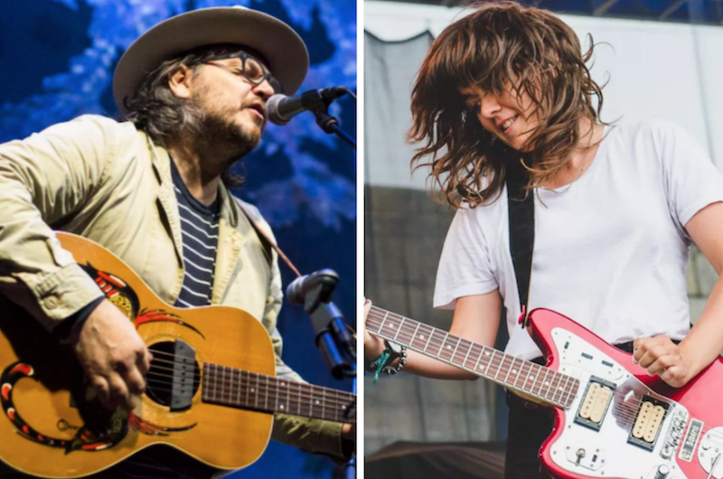 Wilco (photo by Philip Cosores) and Courtney Barnett (photo by Ben Kaye) solid sound festival 2019 karaoke Handshake Drugs