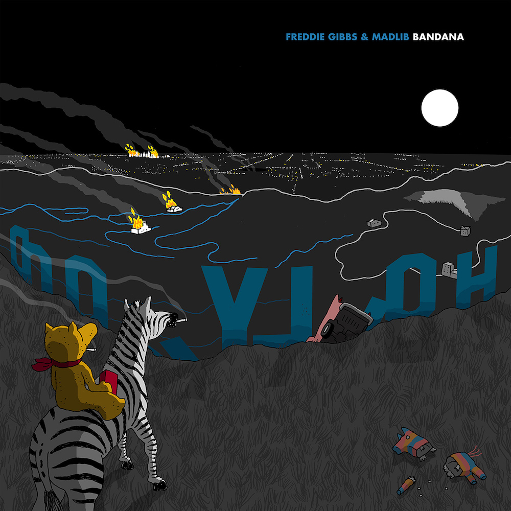gibbs madlib bandana cover artwork Freddie Gibbs and Madlib reveal new album Bandana: Stream
