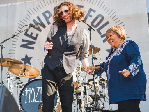 Hozier and Mavis Staples at Newport Folk Festival 2019 Ben Kaye