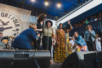 If I had a Song Mavis Staples Our Native Daughters Hozier Newport Folk Festival 2019 Ben Kaye