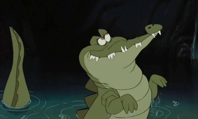 Visual depiction of a meth gator, or... Louis the Alligator from The Princess and the Frog