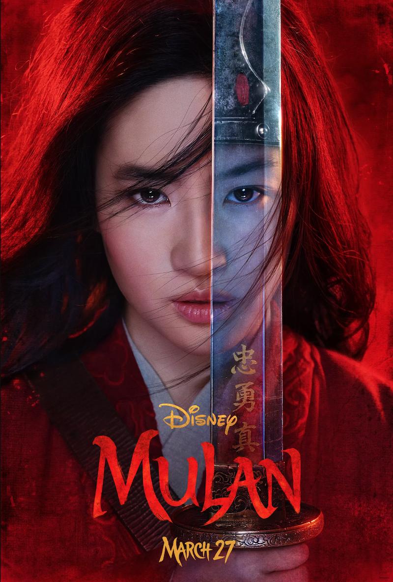 Mulan live action disney poster