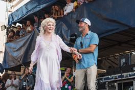 Judy Collins and Jay Sweet at ♀♀♀♀: The Collaboration at Newport Folk Festival 2019