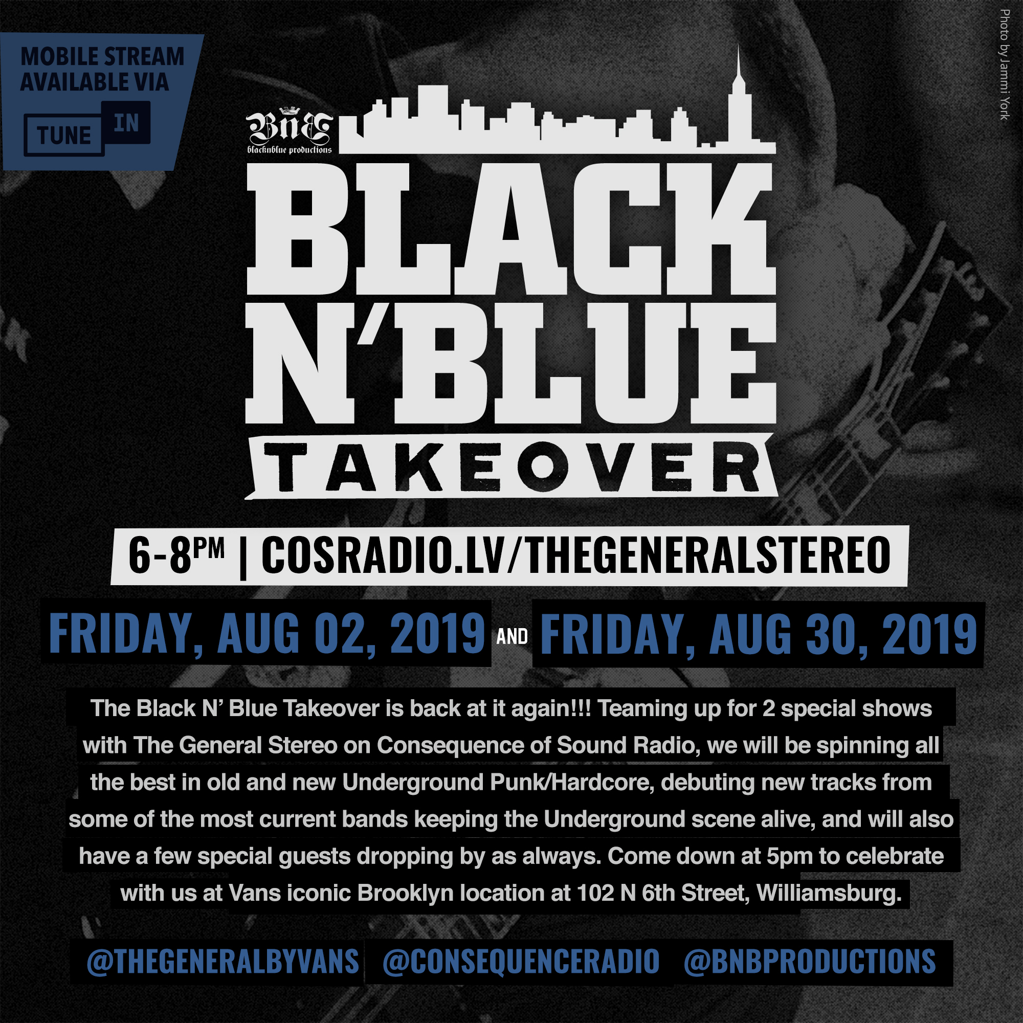 Black N' Blue Takeover x The General Stereo