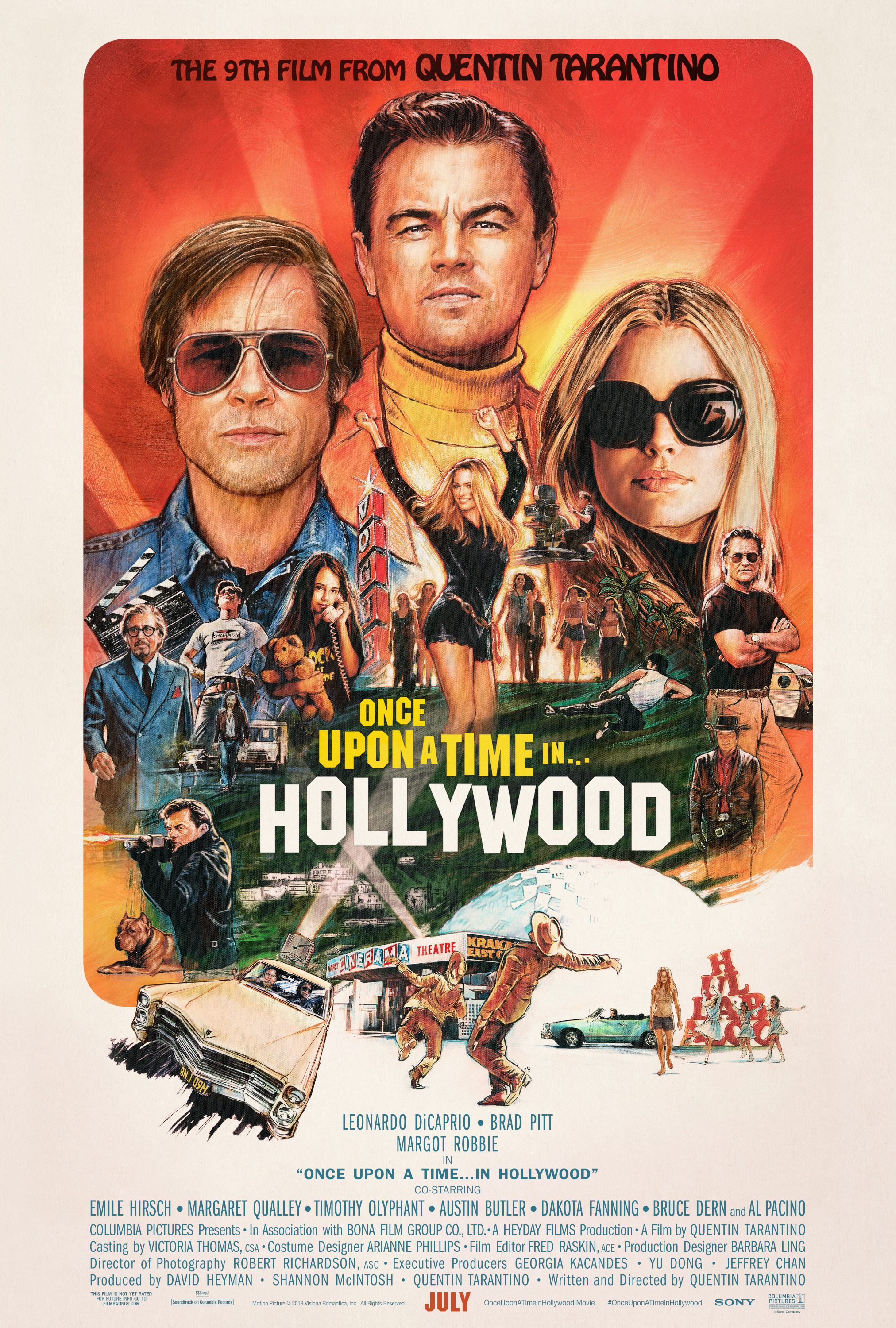 once upon a time in hollywood poster Ranking: Every Quentin Tarantino Movie from Worst to Best