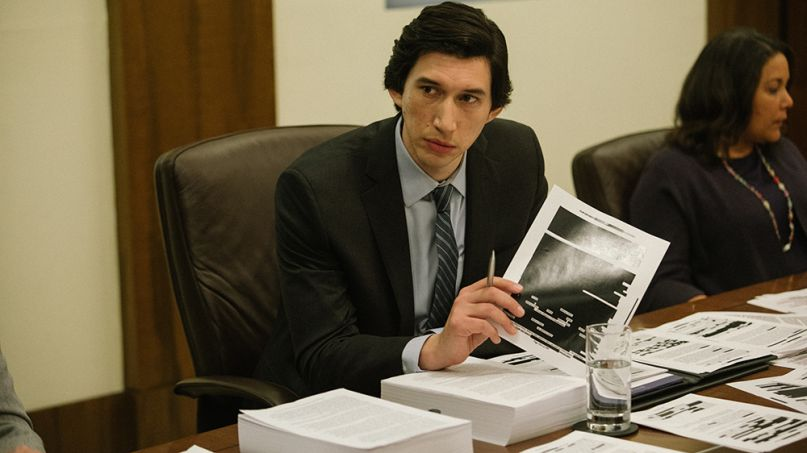 Adam Driver Annette Bening in The Report trailer CIA, courtesy of Amazon