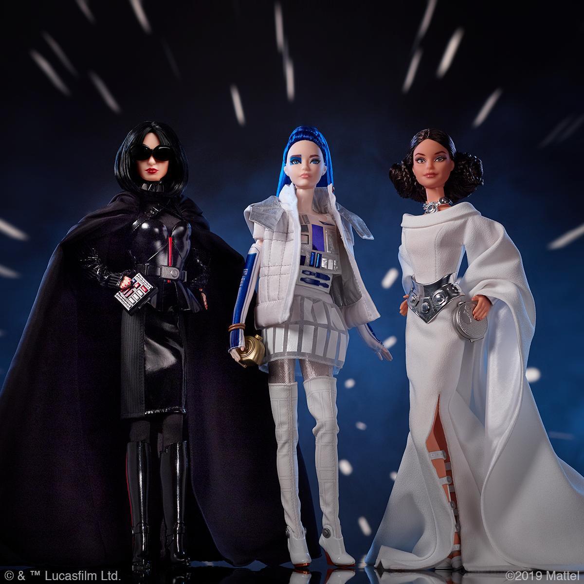 Barbie Star Wars Mattel figures