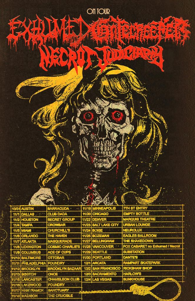 Exhumed Gatecreeper Tour Poster