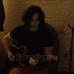"""Jack White plays """"99 Problems"""" backstage"""
