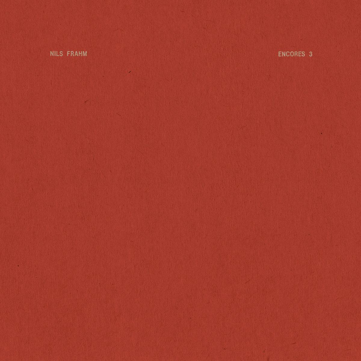 Nils Frahm Encores 3 EP cover artwork