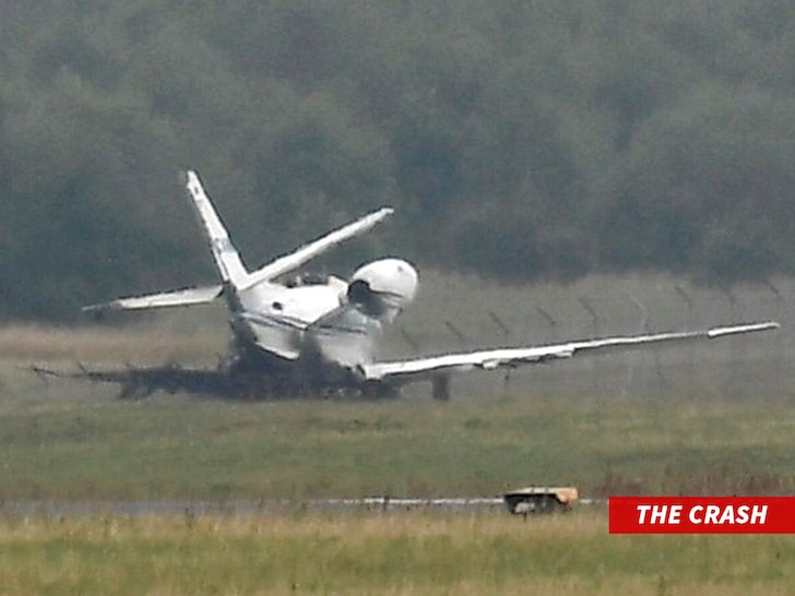 Pink plane crash management crew
