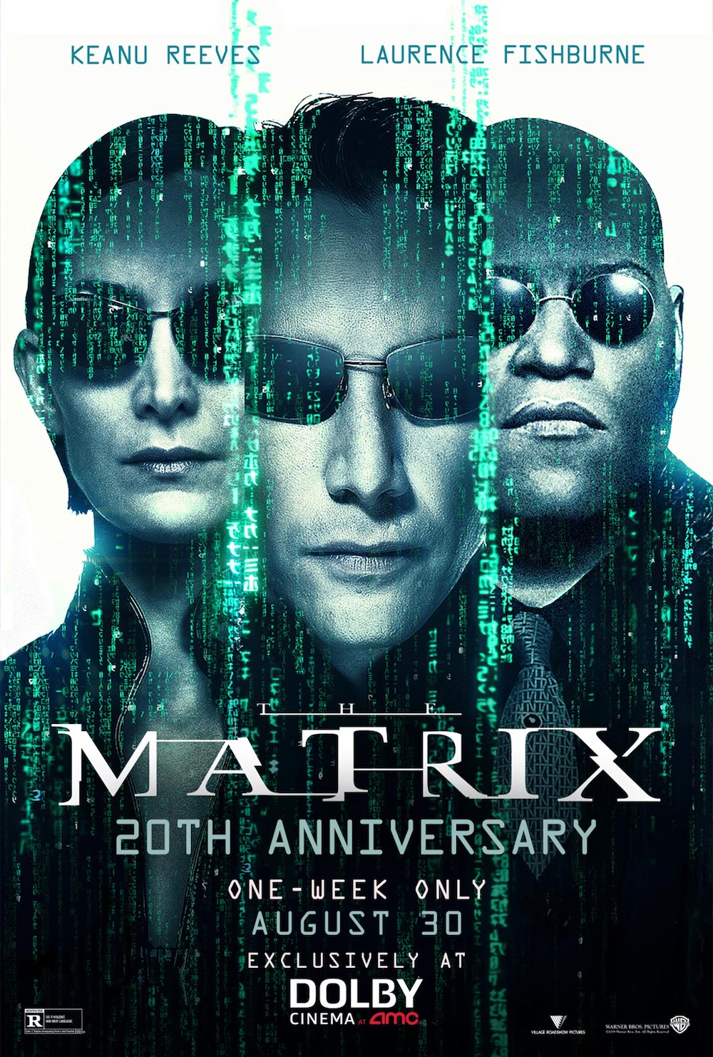 The Matrix Returns to Theaters 20th anniversary poster