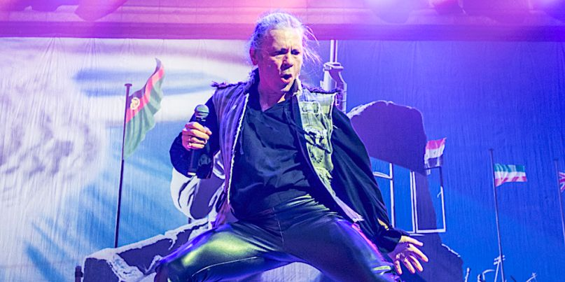 Iron Maiden's Bruce Dickinson halts show fan altercation