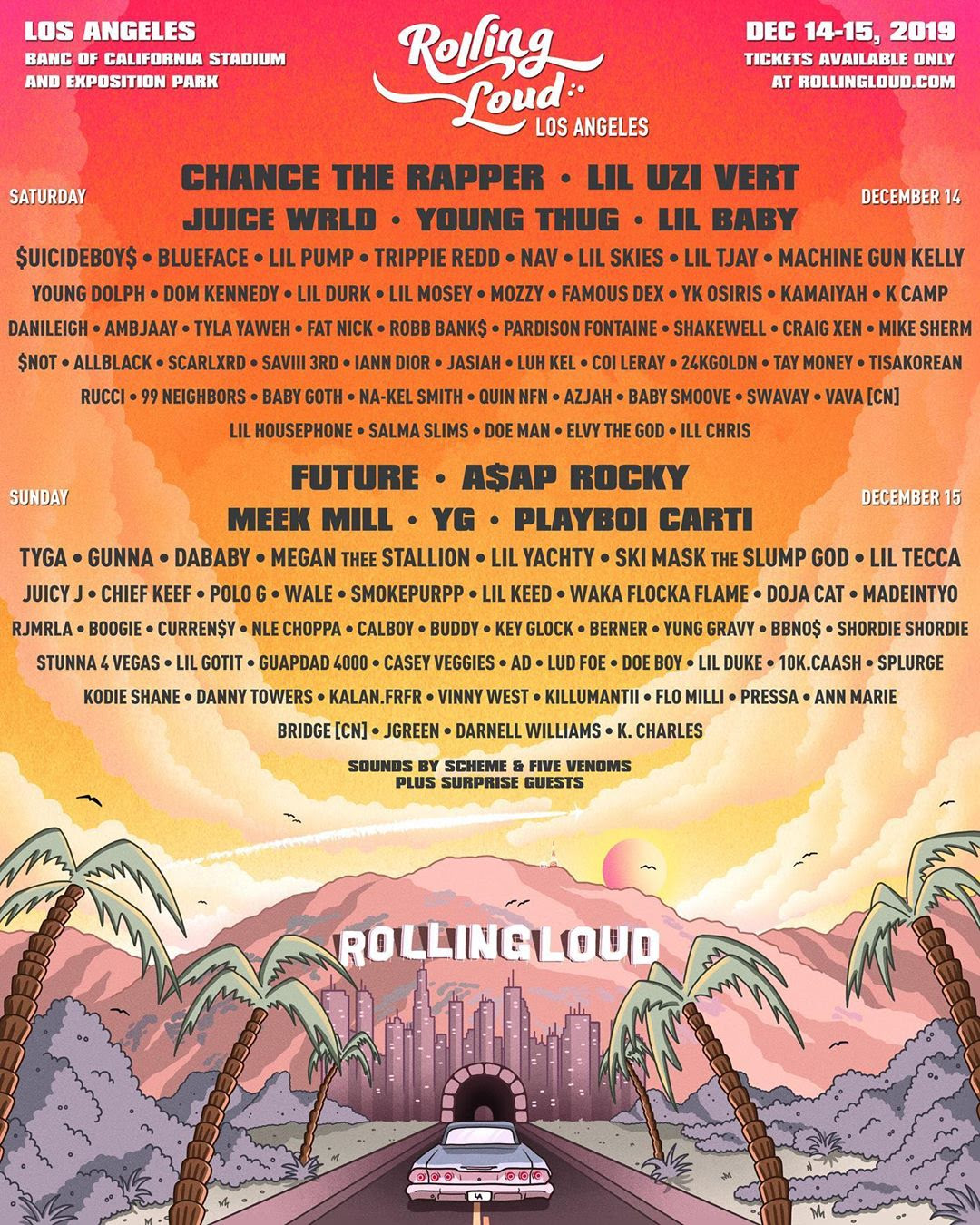 Rolling Loud Los Angeles 2019 lineup