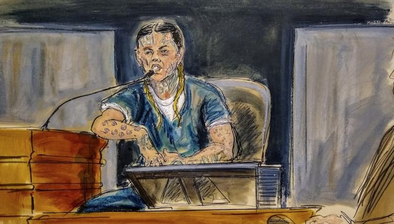 Tekashi 6ix9ine court room sketch testimony snitch