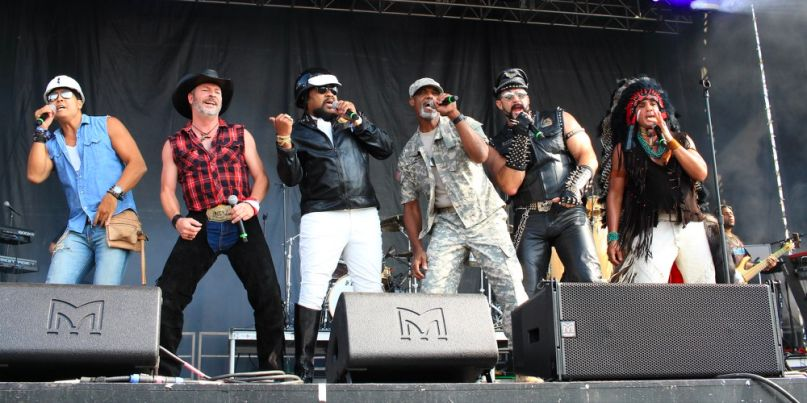 The Village People circle pit at Riot Fest