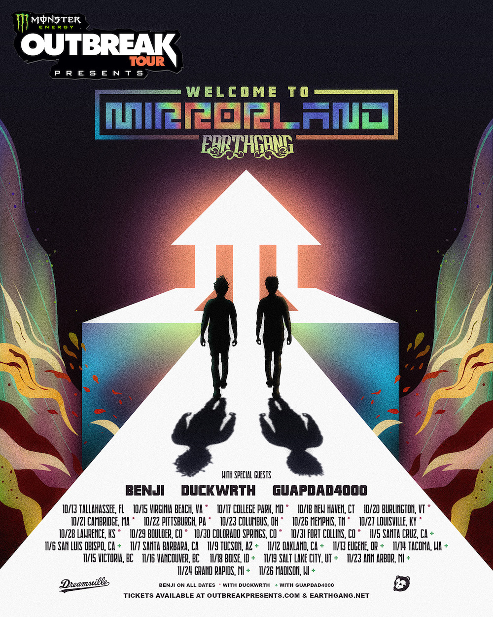 Welcome-to-Mirroland earthgang north america 2019 tour dates poster