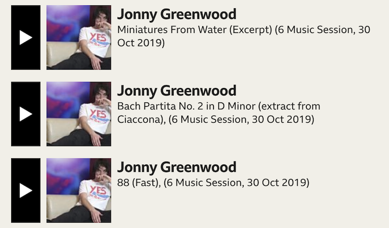 greenwood maida Jonny Greenwood performs classical music set at BBCs Maida Vale studios: Stream