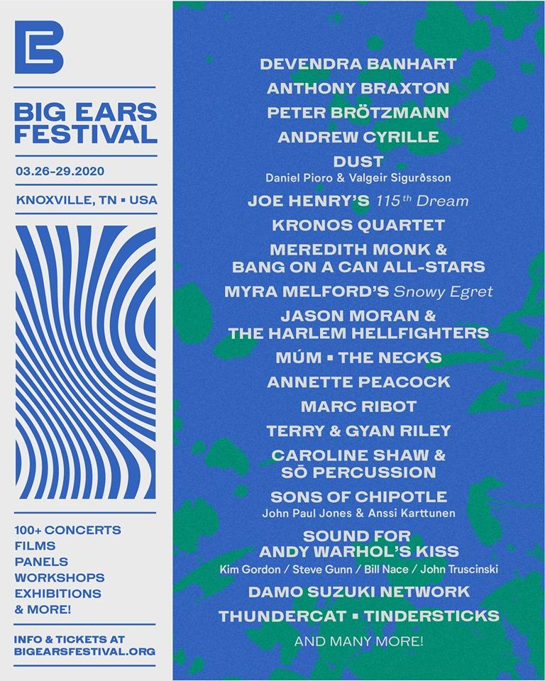 Big Ears Festival 2020 lineup