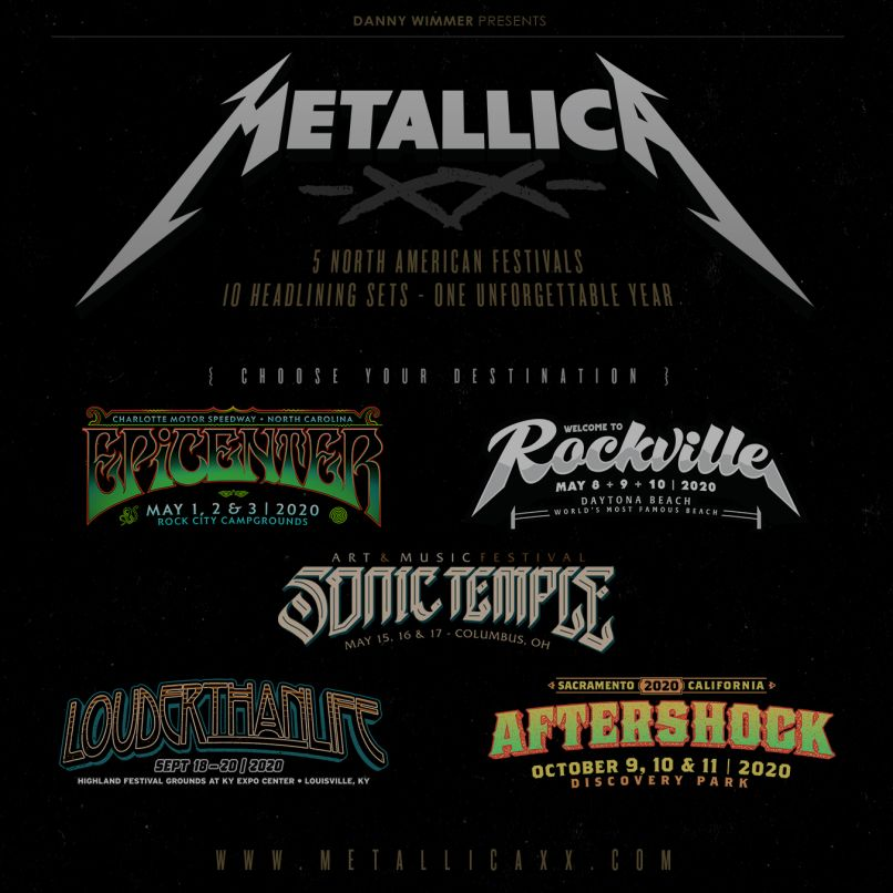 Metallica Danny Wimmer Fests Poster