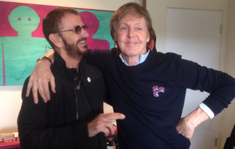 Ringo Starr Paul McCartney Collaboration