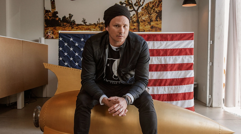 Tom DeLonge, photo by LeAnn Mueller to the stars academ us army deal