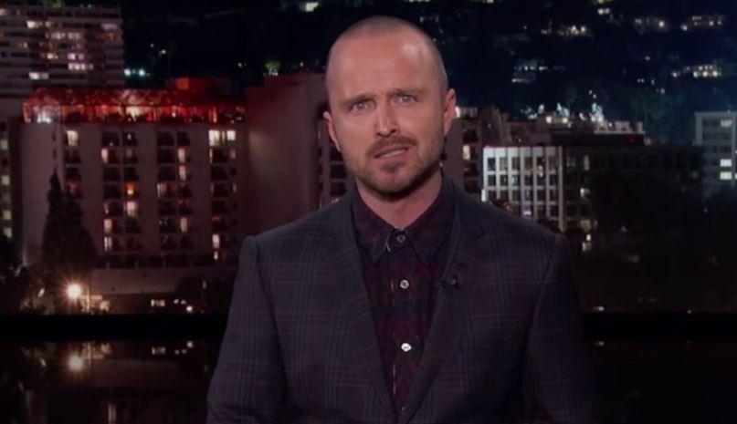 Aaron Paul recaps Breaking Bad on Kimmel