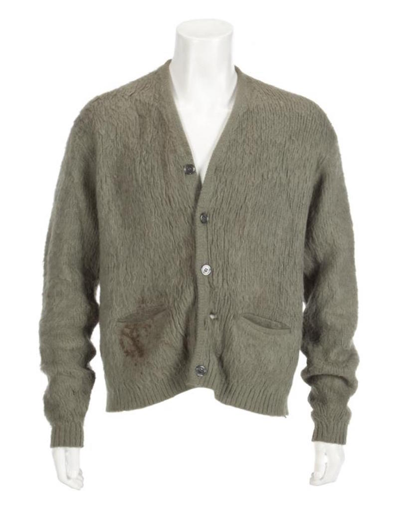 cobain unplugged sweater Kurt Cobains unwashed MTV Unplugged sweater to be auctioned off
