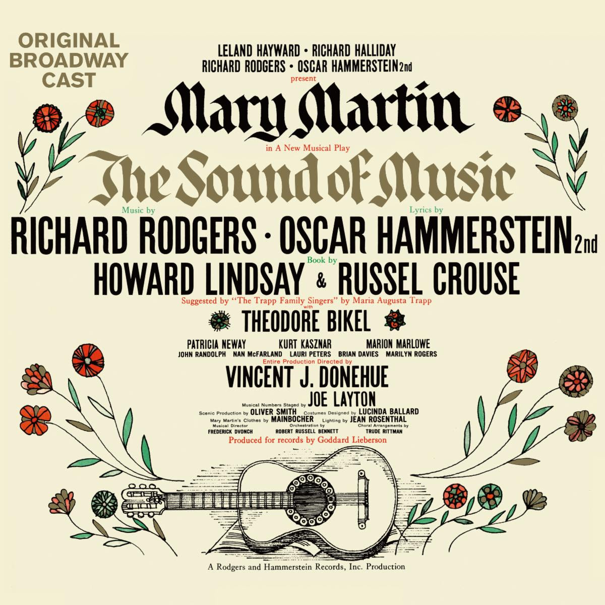 the sound of music original cast recording reissue cover artwork