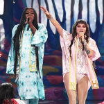 Tik Tok performance Raising Hell Big Freedia and Kesha, photo courtesy of AMAs
