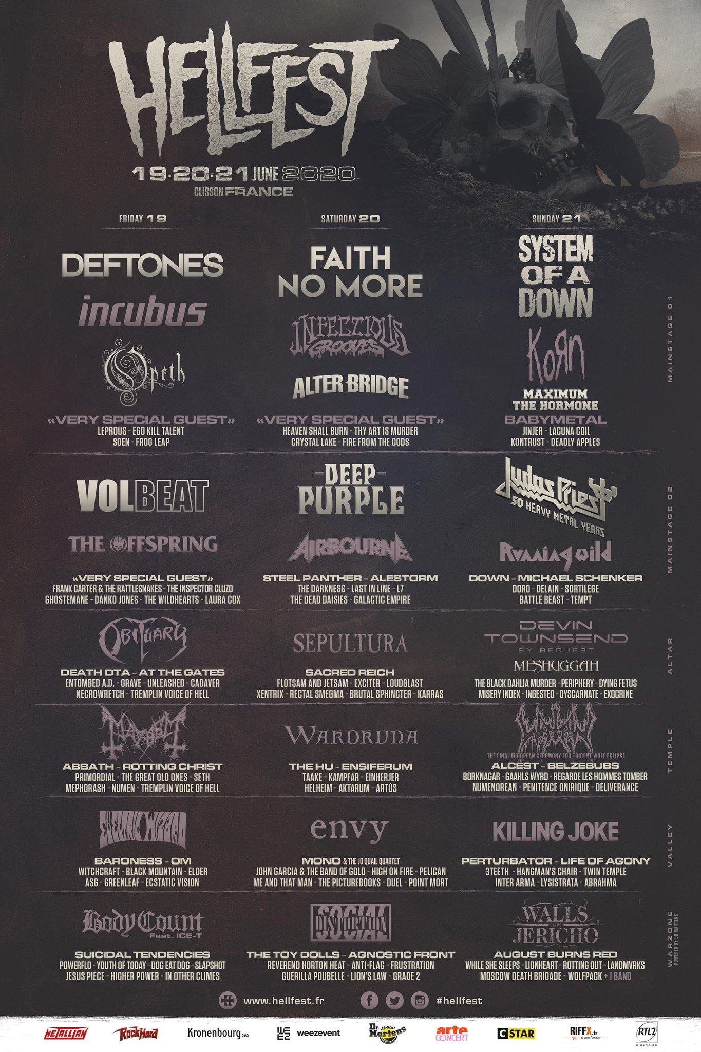 Hellfest 2020 lineup