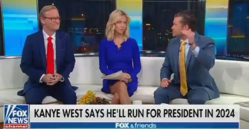 Fox & Friends throws its support behind Kanye West's 2024 candidacy