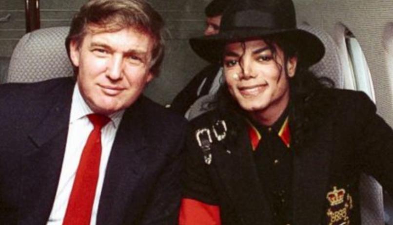 Michael Jackson with Donald Trump